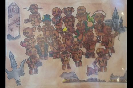 A custom group portrait of team members at Islands of Adventure, 2016